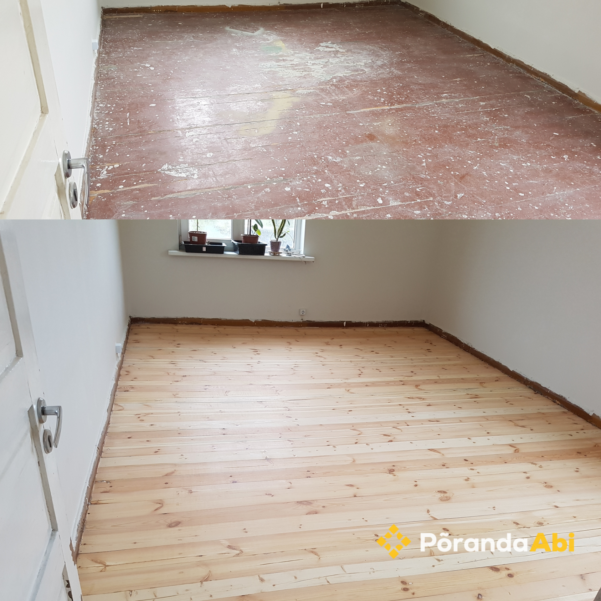 Vana puitpõranda renoveerimine
