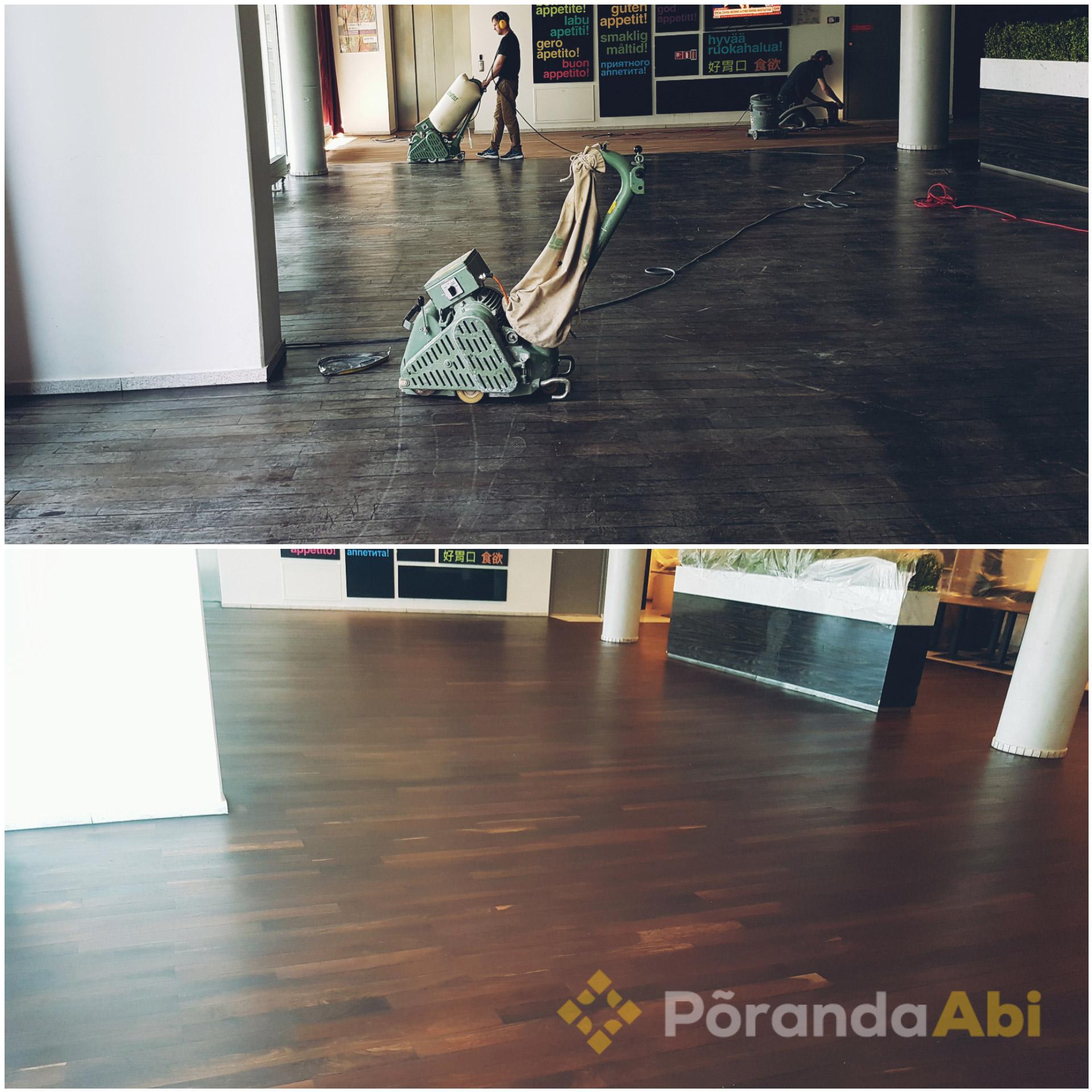 Radisson Blu hotelli põranda lihvimine ja hooldus